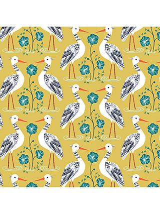 Dashwood Studio Heron Print Fabric, Mid Yellow