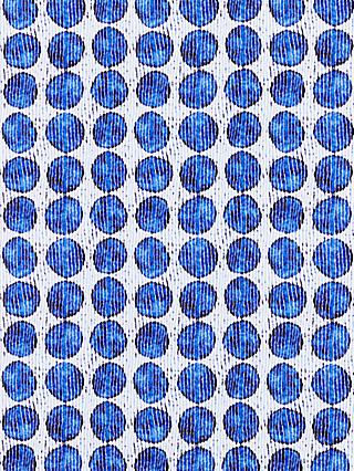 John Lewis & Partners Abstract Spots Print Fabric, Blue