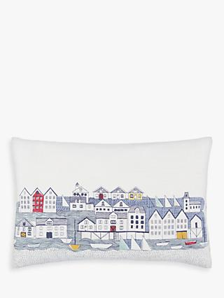 John Lewis & Partners Nordic Houses Cushion, Blue / Multi