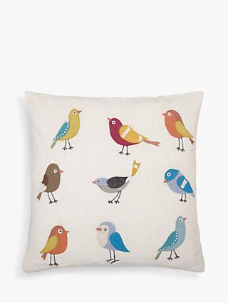 John Lewis & Partners Scandi Birds Cushion, Multi