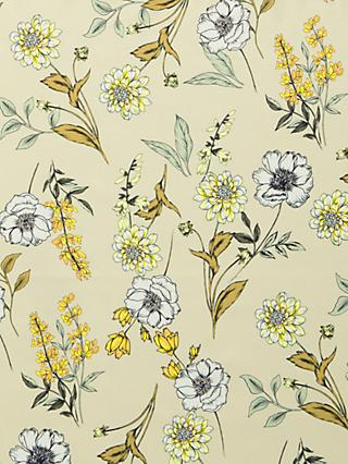 John Kaldor Santa Cruz Floral Print Fabric, White/Yellow