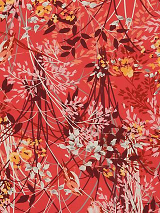 John Kaldor Juliet  Floral Print Fabric, Red