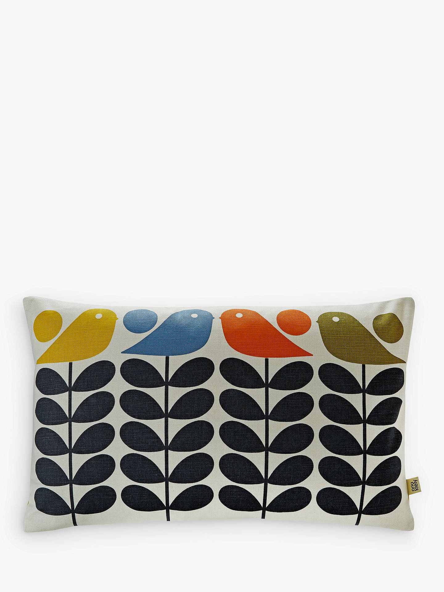 Buy Orla Kiely Early Bird Stem Rectangular Cushion, Multi Online at johnlewis.com
