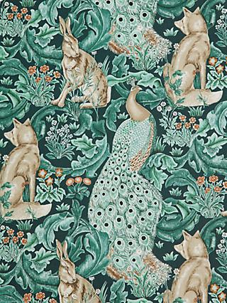 Morris & Co. Forest Print Fabric, Teal