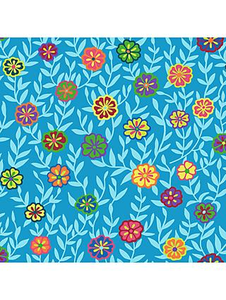FreeSpirit Busy Lizzy Print Fabric, Sky Blue