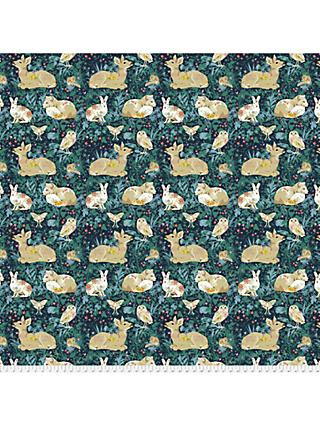 FreeSpirit Mini Enchanted Forest Print Fabric, Navy Blue