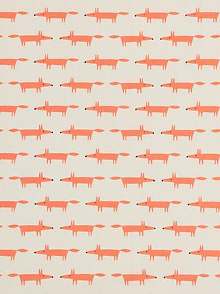 Scion Fox Print Fabric, Neutral/Orange