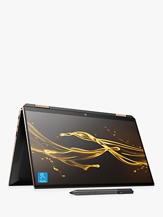 "HP Spectre x360 13-aw0054na Convertible Laptop with HP Tilt Pen Stylus, Intel Core i7 Processor, 16GB RAM, 1TB SSD + 32GB Intel Optane Memory, 13.3"" 4K Ultra HD, Nightfall Black"