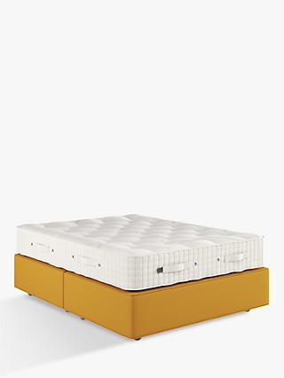 Vispring Axminster Supreme 2500 Mattress and Premier Divan Base Set, Medium Tension, King Size, Plush Saffron, FSC Certified (Spruce)