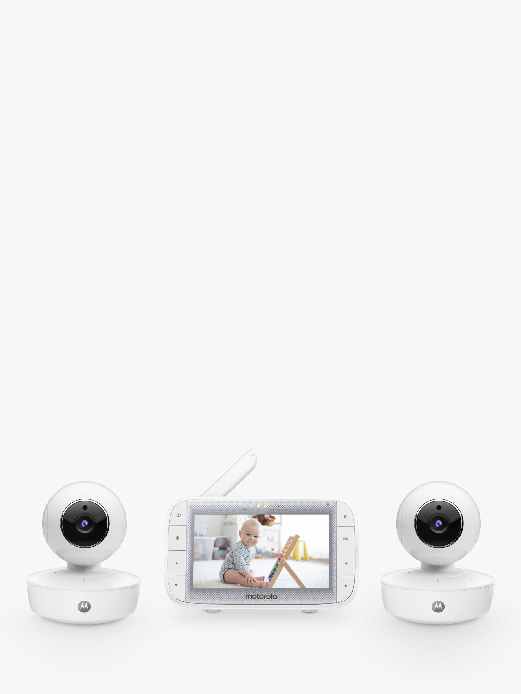 Motorola Motorola MBP50A Twin Digital 5'' Colour Video Baby Monitor with 2 Cameras