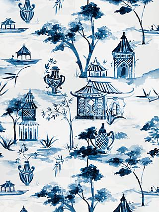 John Lewis & Partners Pagoda Wallpaper, Blue