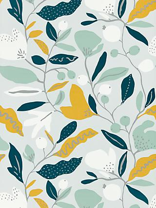 John Lewis & Partners Nora Wallpaper, Citrine