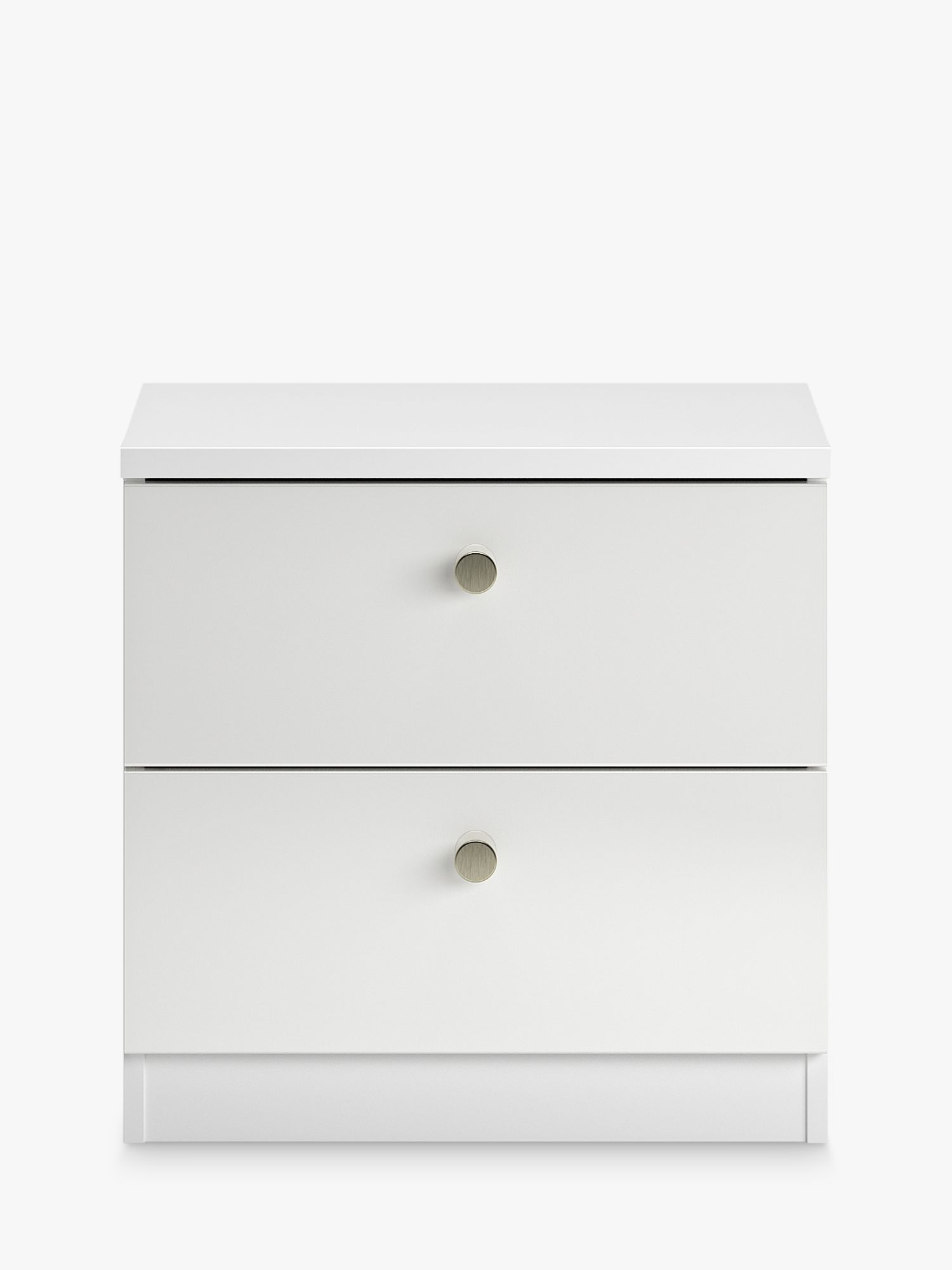 House By John Lewis Mix It Bedside Table Gloss White At John Lewis Partners