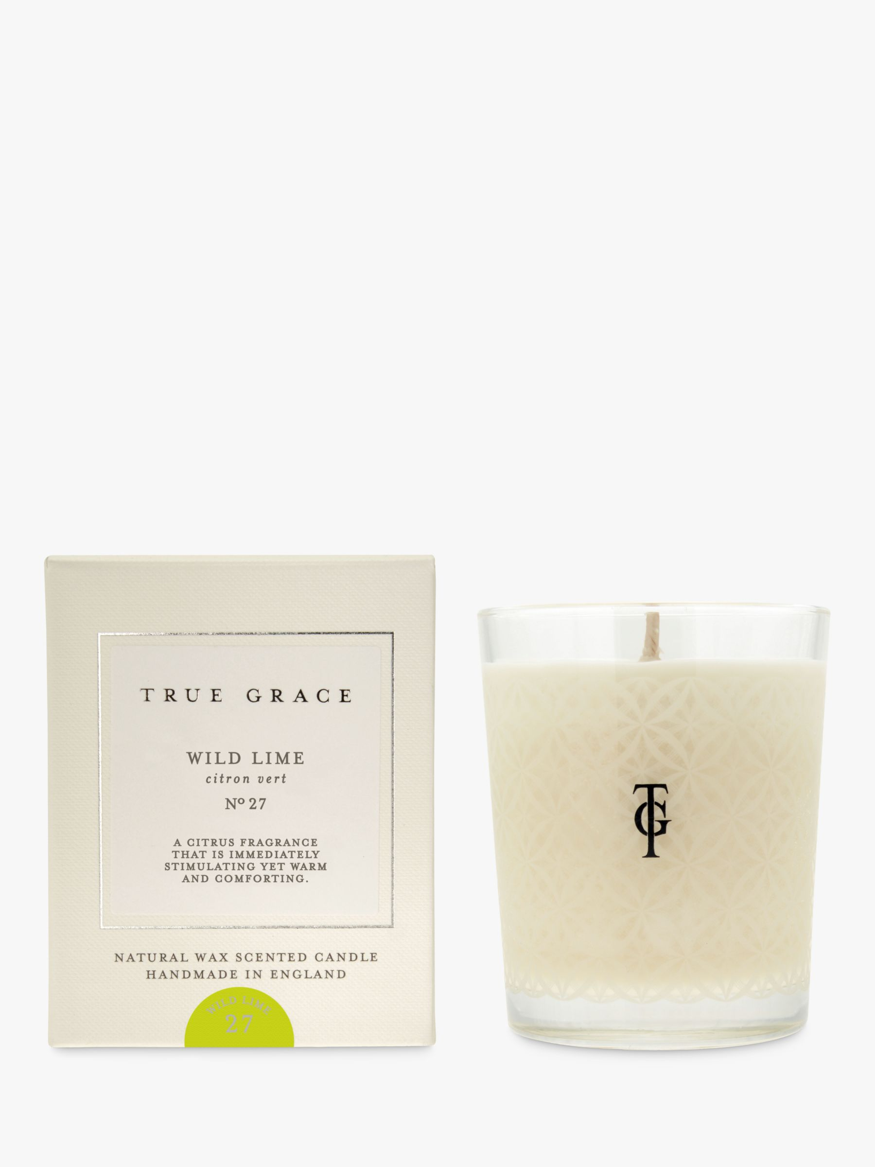 True Grace True Grace Wild Lime Scented Candle, 190g