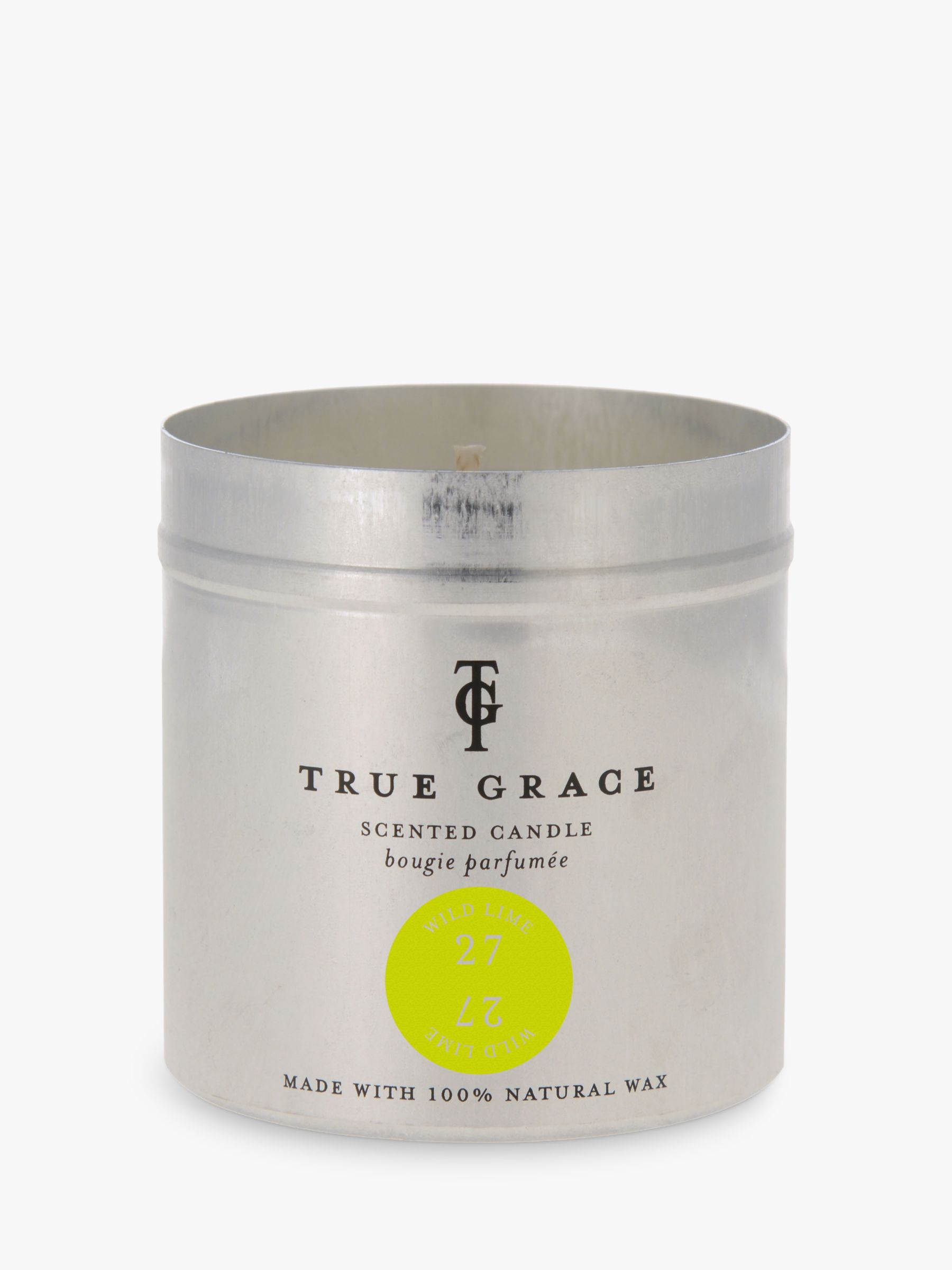 True Grace True Grace Wild Lime Scented Tin Candle, 290g