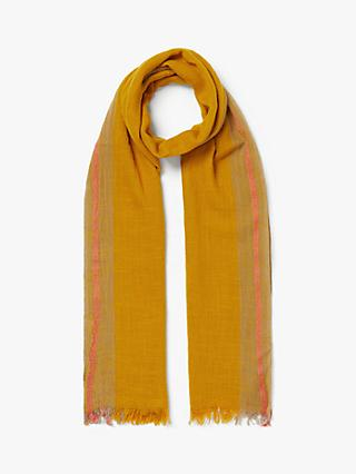 Nice Things Lateral Contrast Stripe Cotton Scarf