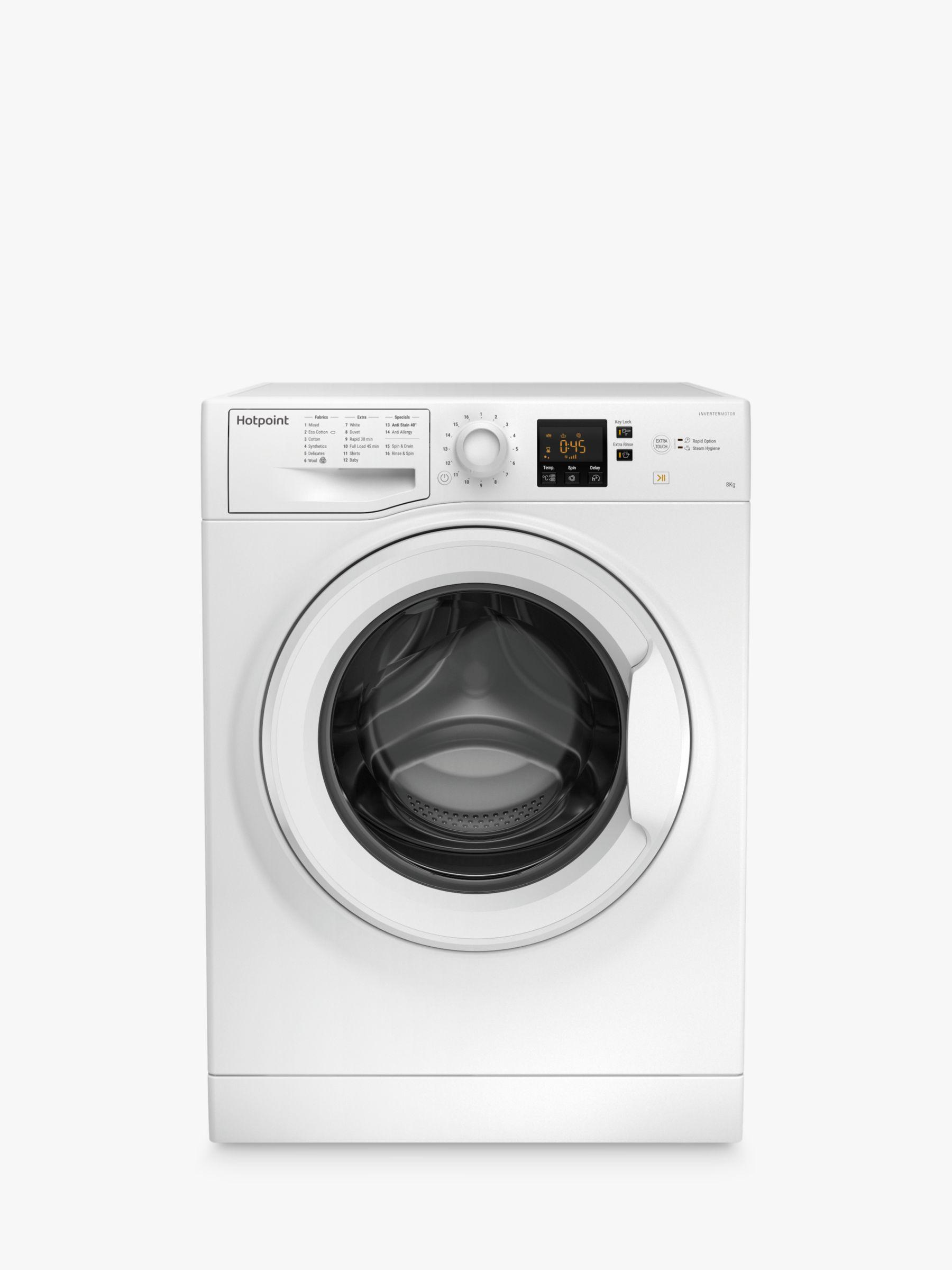 Hotpoint Hotpoint NSWJ842UW Freestanding Washing Machine, 8kg Load, 1400rpm, A++ Energy Rating, White