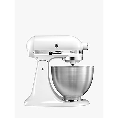 KitchenAid 5K45SSBFW Classic 4.3L Stand Mixer, White