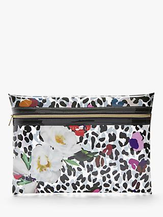 Ted Baker Augesta Flower Print Pouch, Clear/Multi