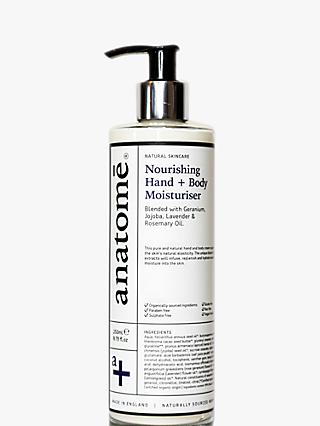 anatomē Nourishing Hand + Body Moisturiser, 250ml