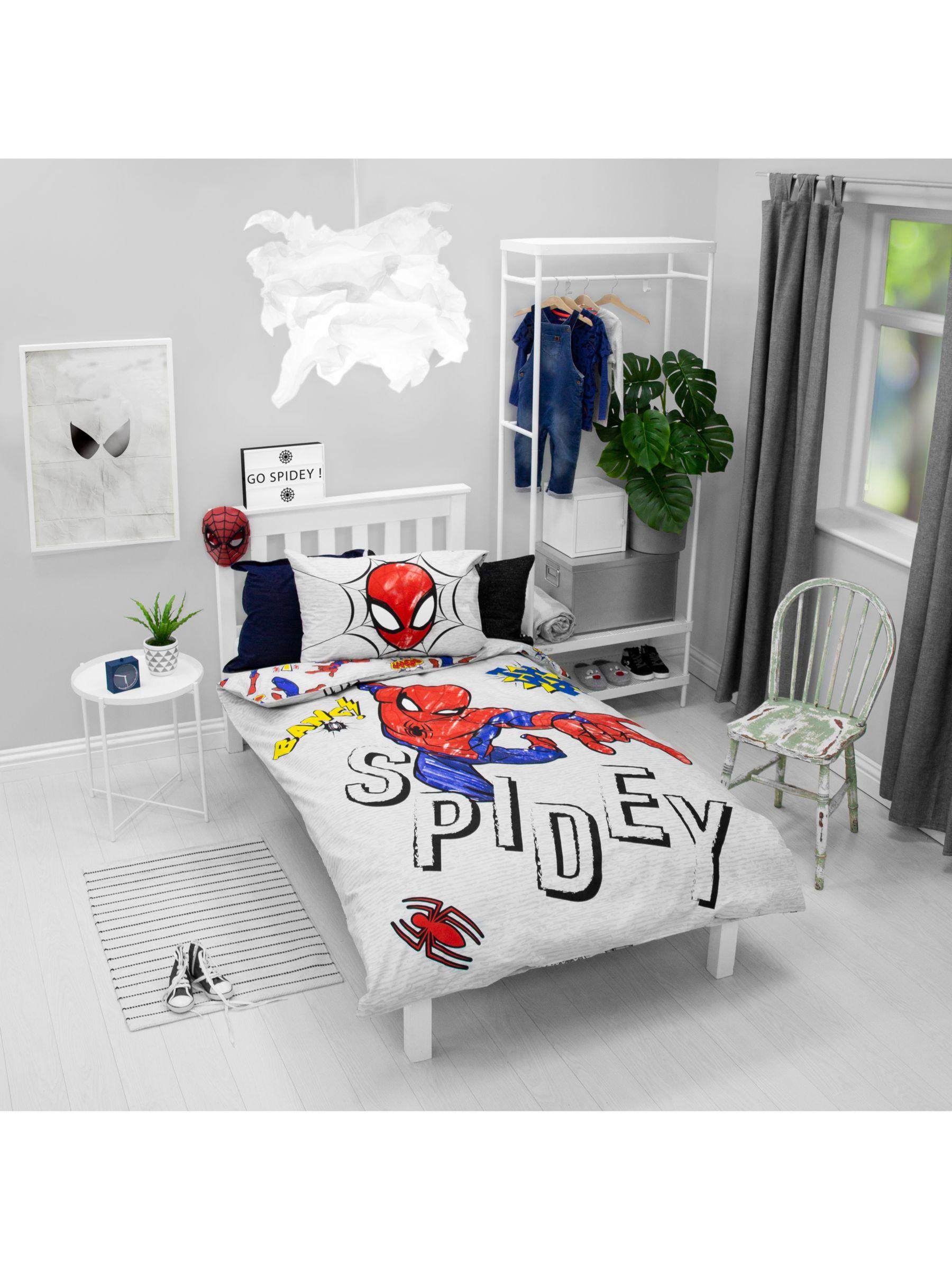 Marvel Marvel Spiderman Reversible Duvet Cover and Pillowcase Set, Single, Multi