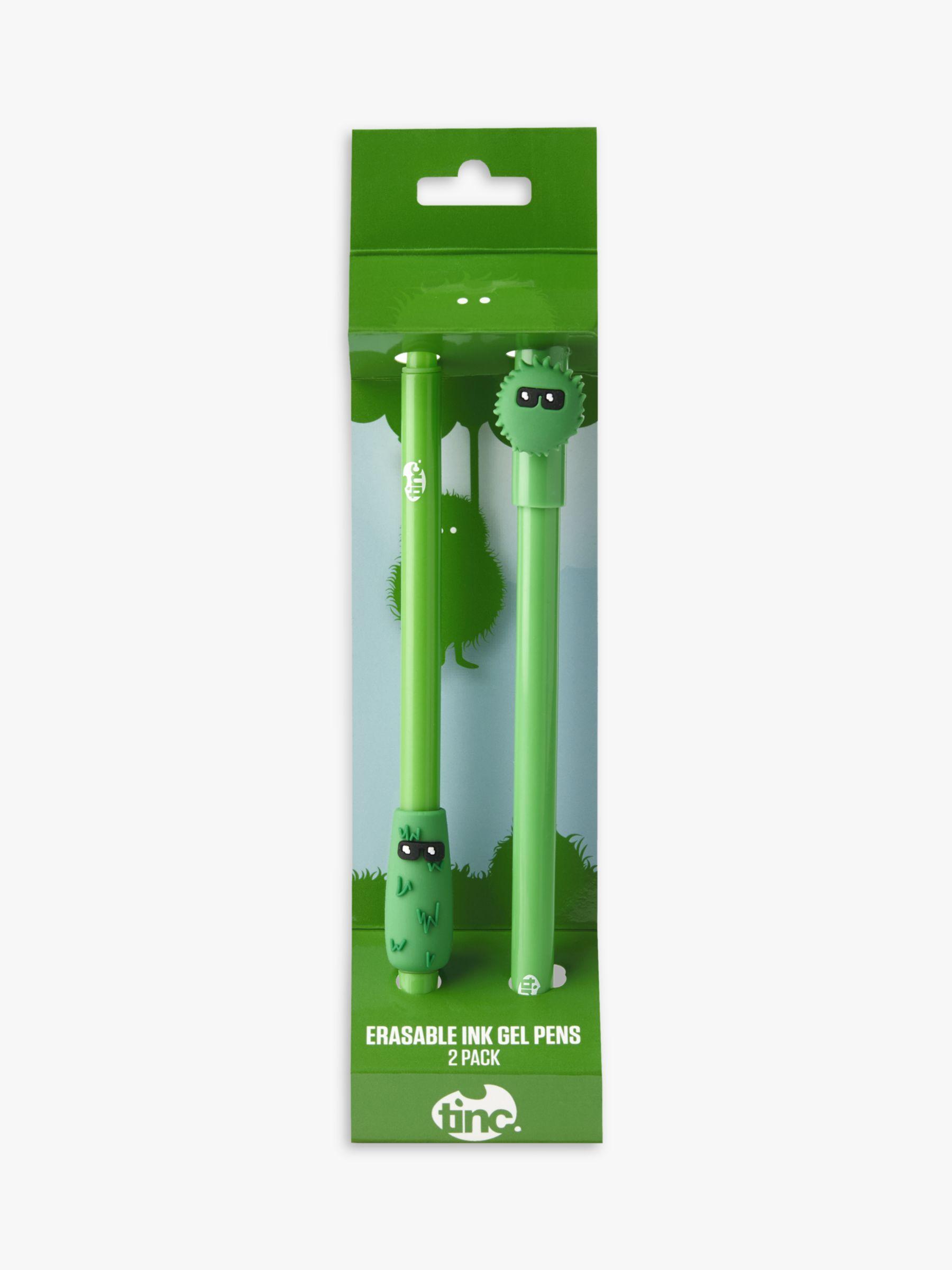 Tinc Tinc Erasable Green Gel Pens, Set of 2