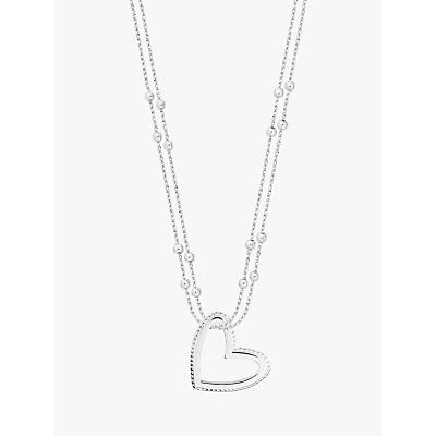 Joma Jewellery Aurora Heart Pendant Necklace, Silver