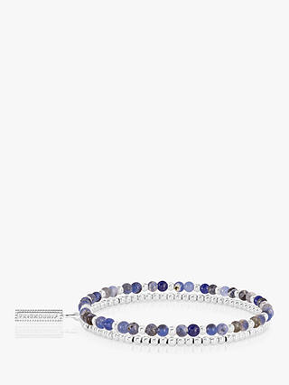 Buy Joma Jewellery Lace Agate Double Beaded Bracelet, Silver/Blue Online at johnlewis.com