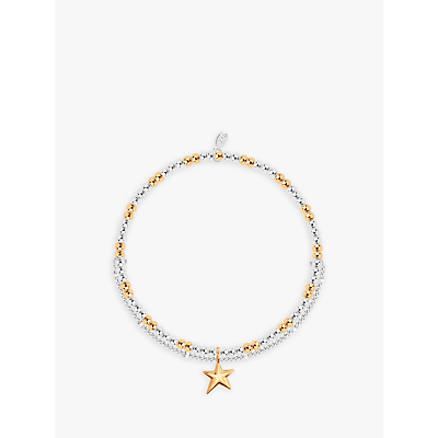 Joma Jewellery Amulet Star Beaded Chain Bracelet, Silver/Gold