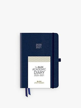 BLOX Stationery A5 Academic Mid-Year Diary 2020-21, Navy