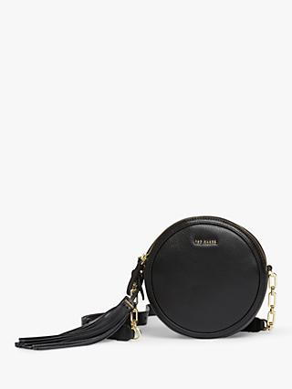 Ted Baker Errinn Circular Leather Cross Body Bag, Black