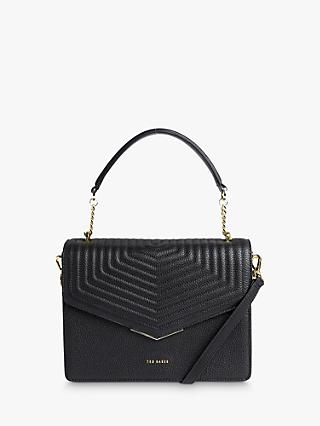 Ted Baker Brittni Leather Grab Bag, Black