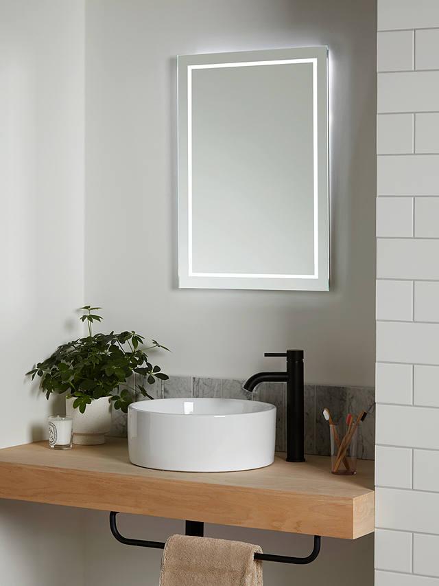 John Lewis Partners Frame Wall Mounted Illumintaed Bathroom Mirror Medium
