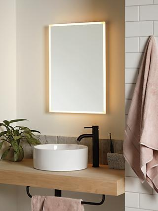 John Lewis & Partners Aura Wall Mounted Illuminated Bathroom Mirror, Medium