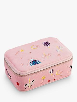 Stych Embroidered Carousel Vanity Box, Pink