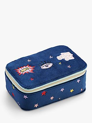 Stych Embroidered Glow Girl Vanity Box, Blue