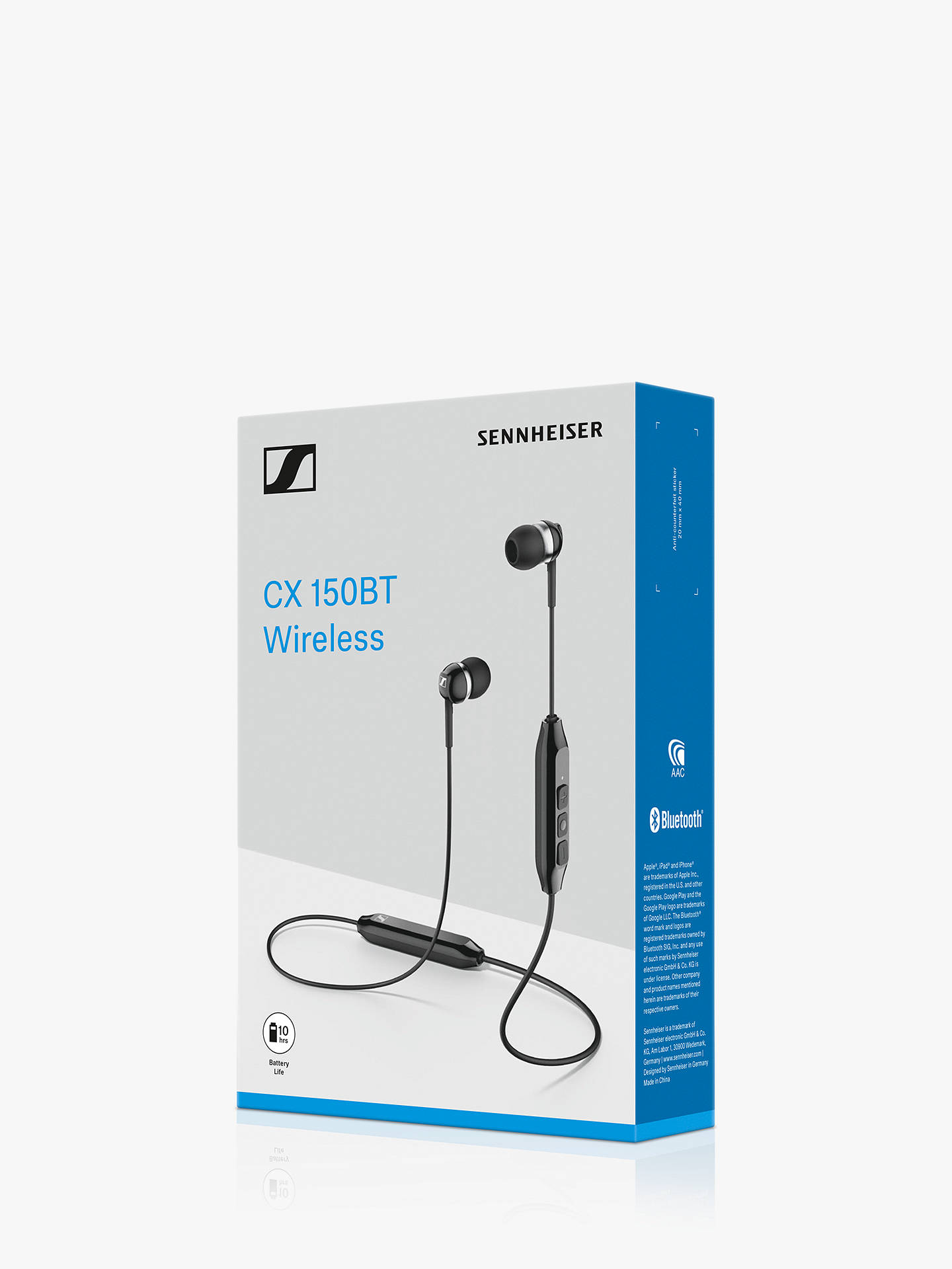 Buy Sennheiser CX 150BT Wireless Bluetooth In-Ear Headphones with Mic/Remote, Black Online at johnlewis.com
