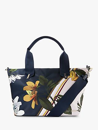 Ted Baker Tahvii Savanna Small Tote Bag, Dark Blue