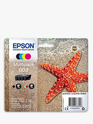 Epson Starfish 603 T03U6 Inkjet Printer Cartridge Multipack, Pack of 4