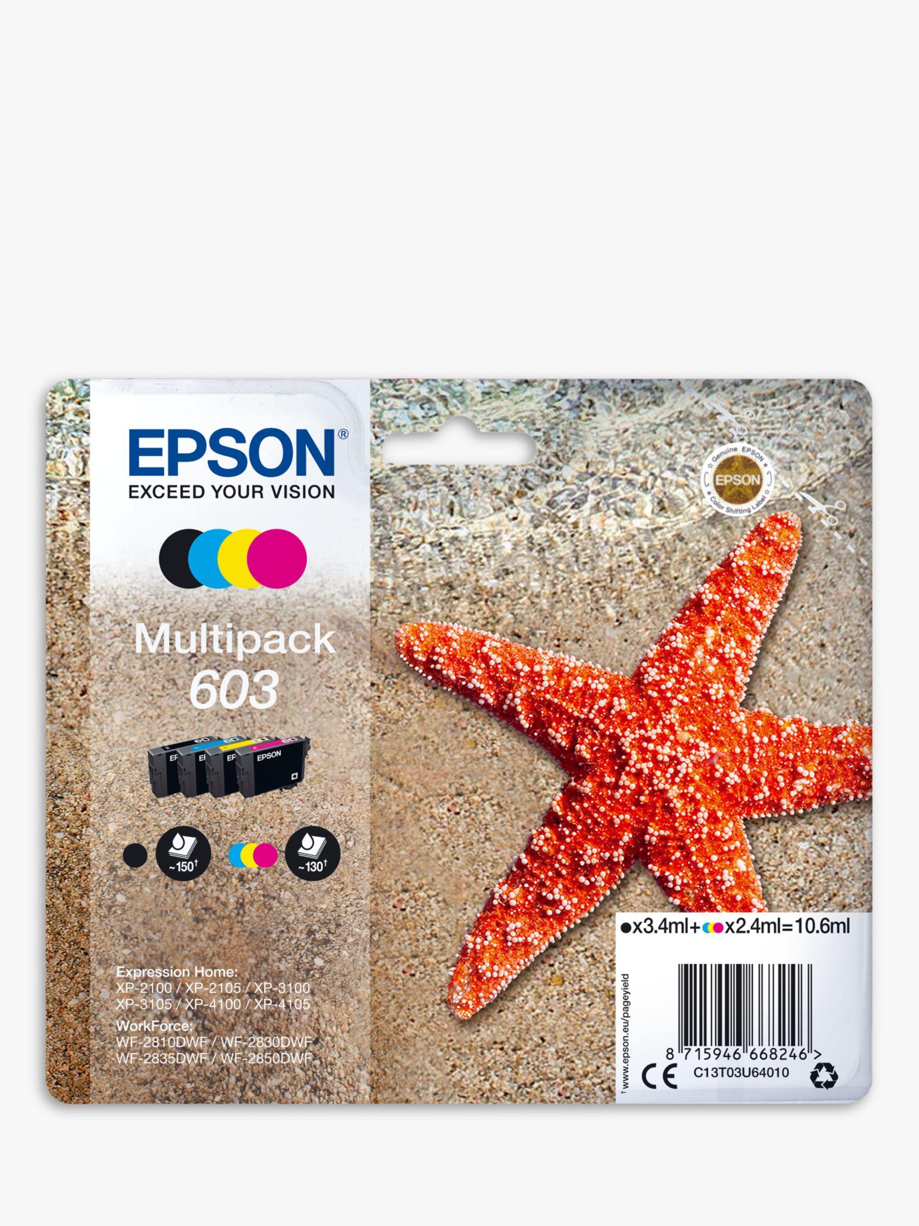 Epson Epson Starfish 603 T03U6 Inkjet Printer Cartridge Multipack, Pack of 4