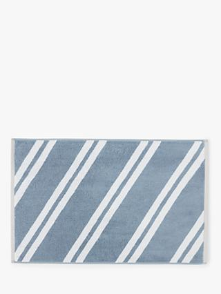 John Lewis & Partners Diagonal Stripe Terry Cotton Bath Mat