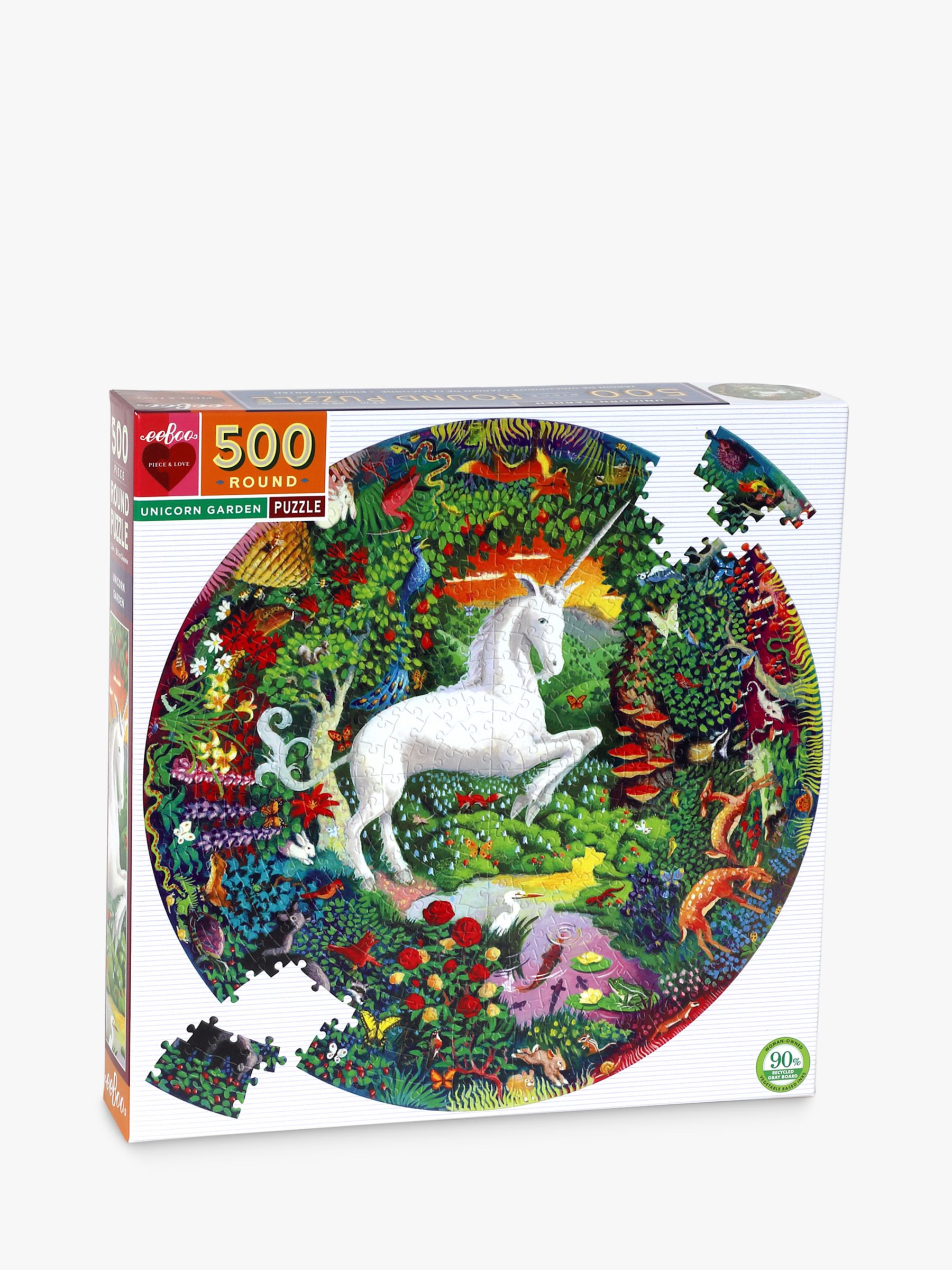 Eeboo eeBoo Unicorn Garden Jigsaw Puzzle, 500 pieces