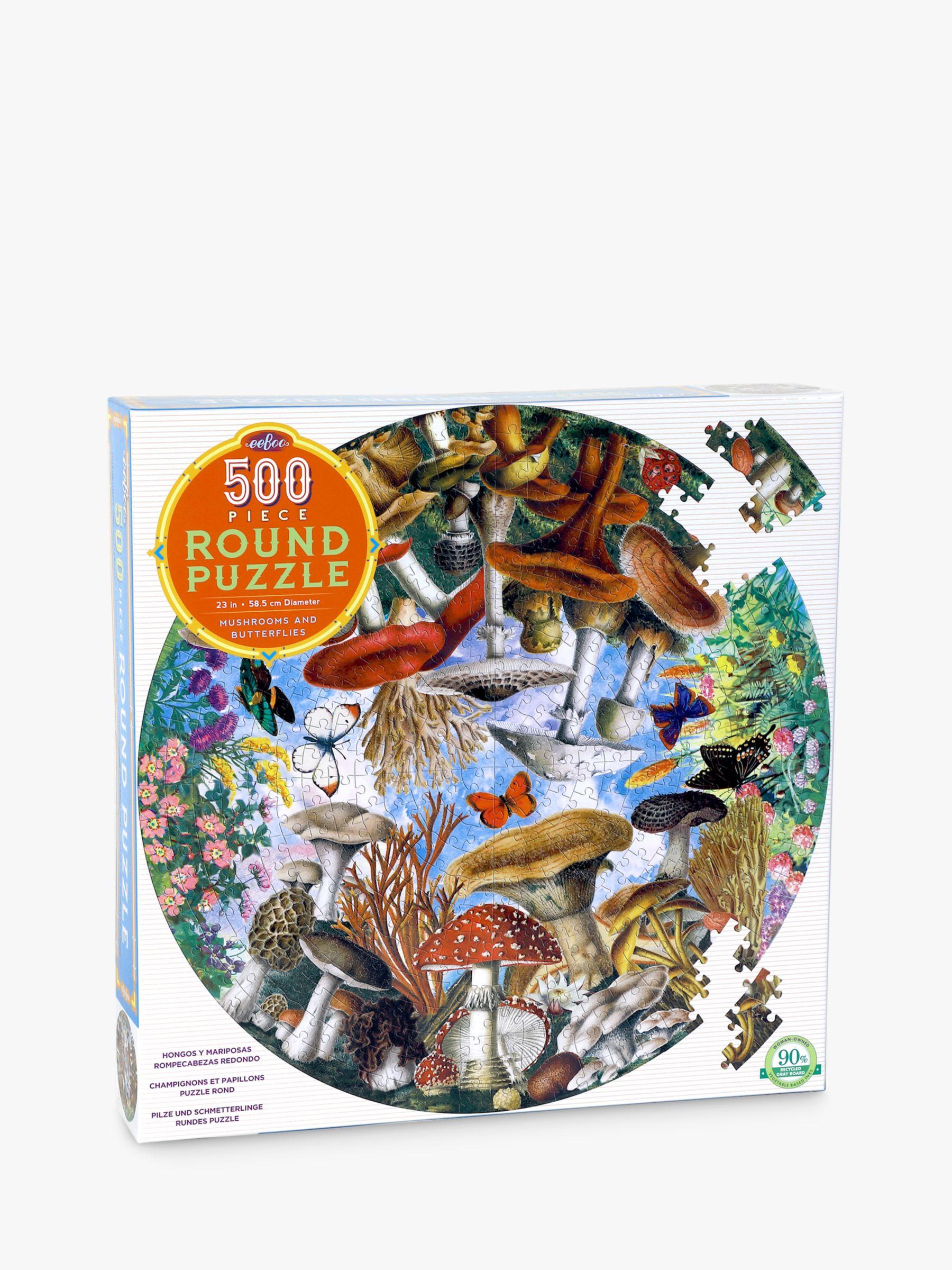 Eeboo eeBoo Mushrooms & Butterflies Jigsaw Puzzle, 500 Pieces