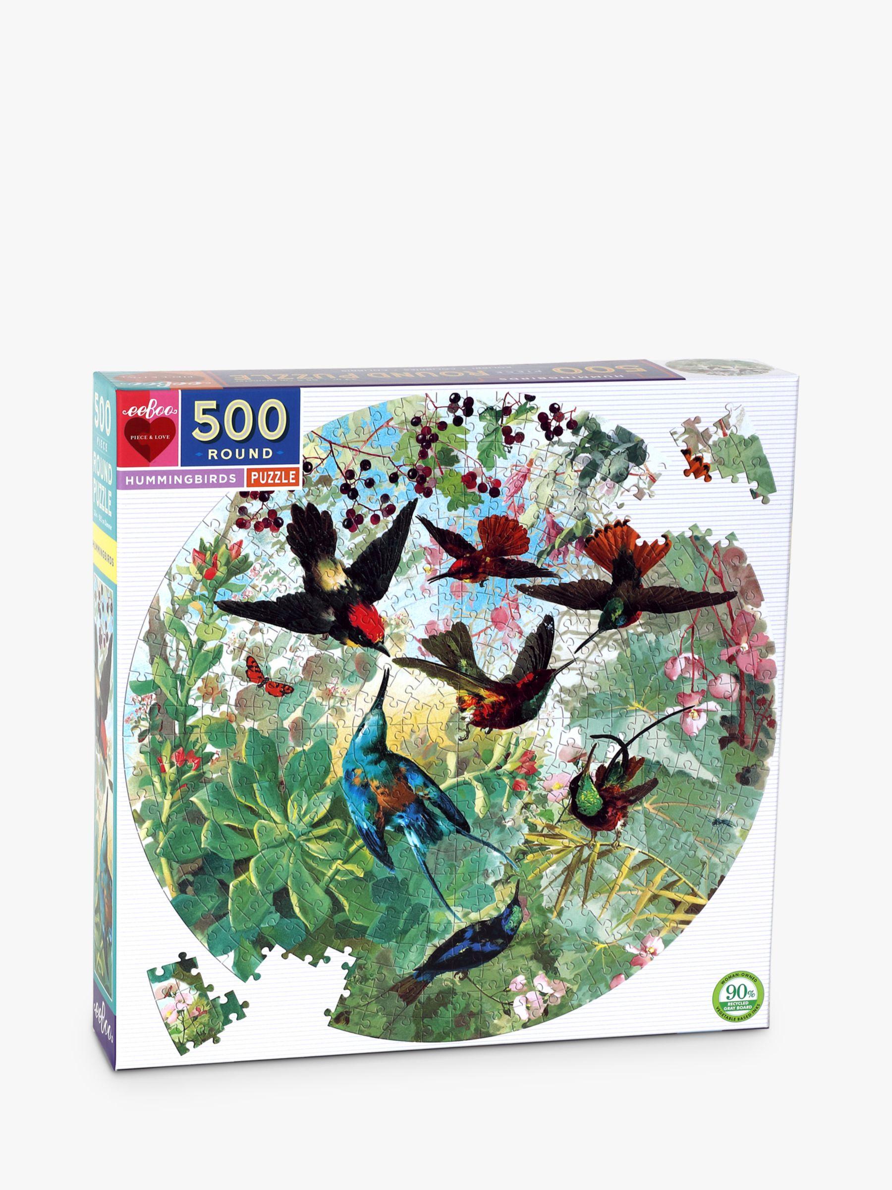 Eeboo eeBoo Hummingbirds Jigsaw Puzzle, 500 Pieces