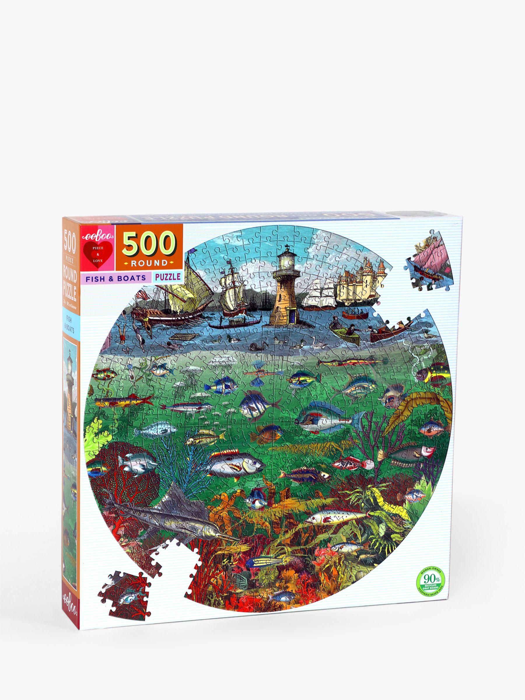 Eeboo eeBoo Fish & Boats Jigsaw Puzzle, 500 Pieces