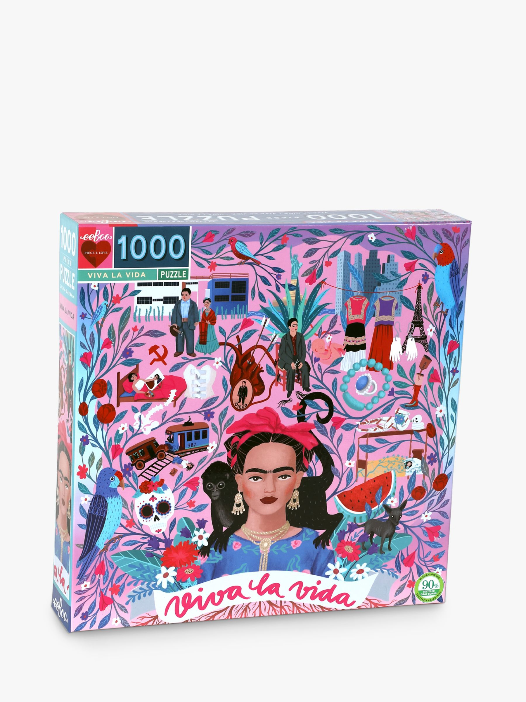 Eeboo eeBoo Viva La Vida Frida Kahlo Jigsaw Puzzle, 1000 Pieces
