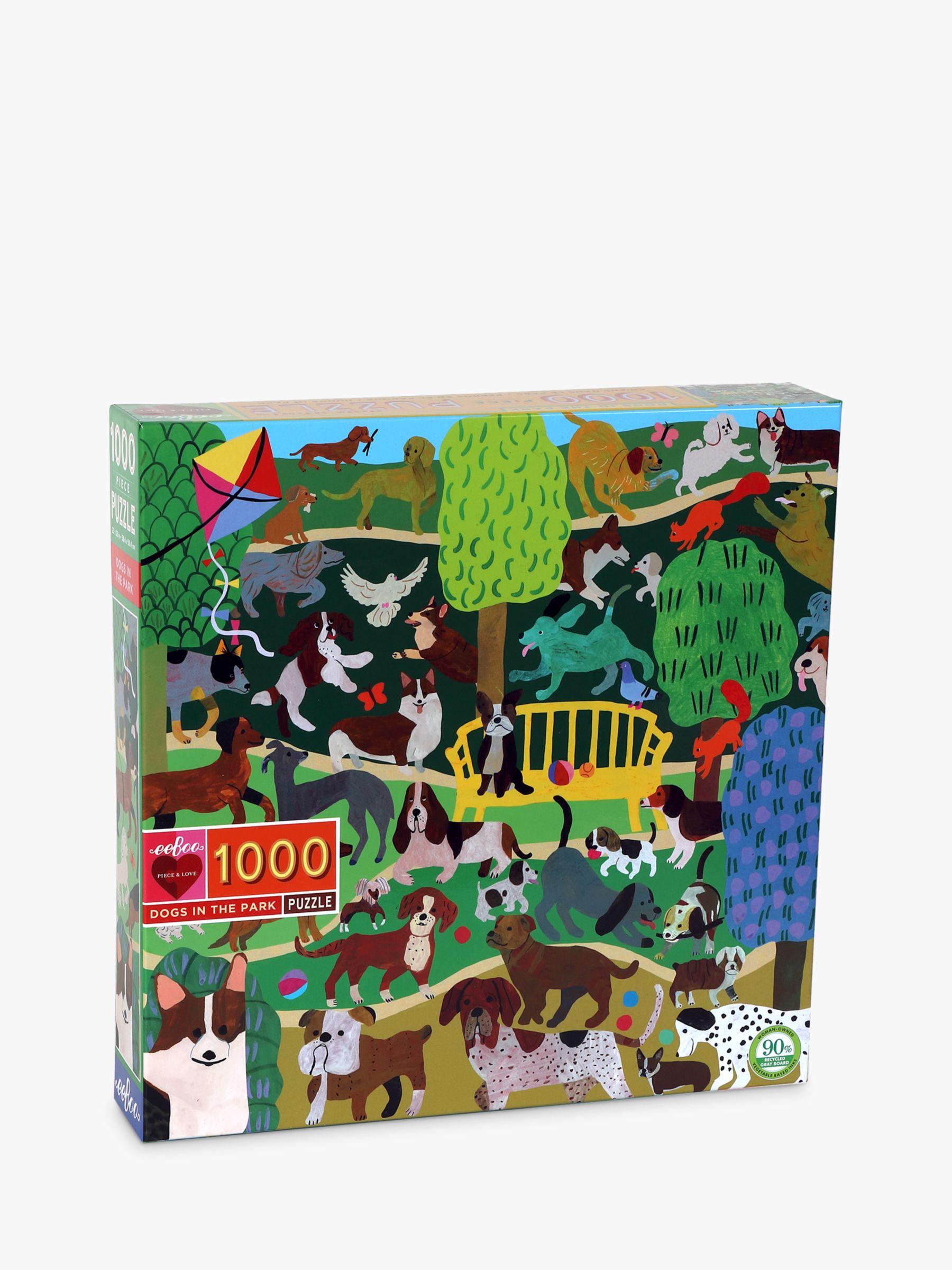 Eeboo eeBoo Monika Forsberg Dogs in the Park Jigsaw Puzzle, 1000 Pieces