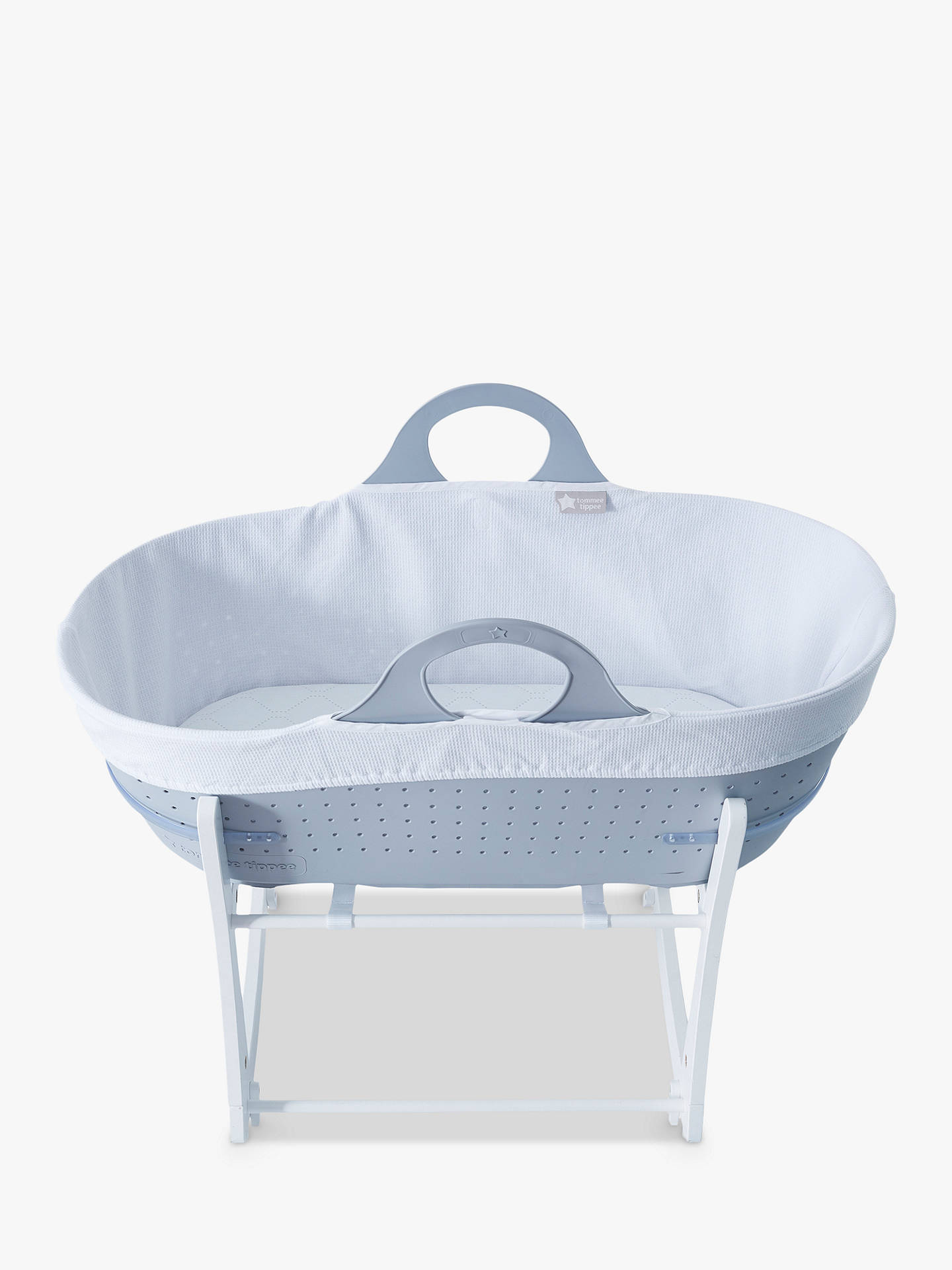 Buy Tommee Tippee Sleepee Baby Moses Basket and Rocking Stand, Grey Online at johnlewis.com