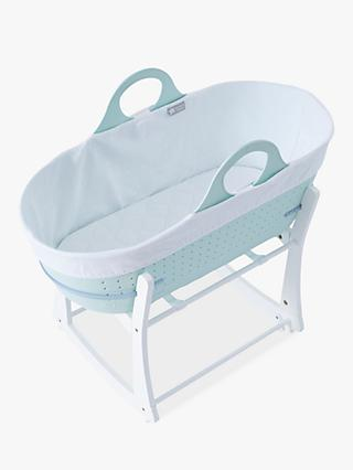 Tommee Tippee Sleepee Baby Moses Basket and Rocking Stand, Mint