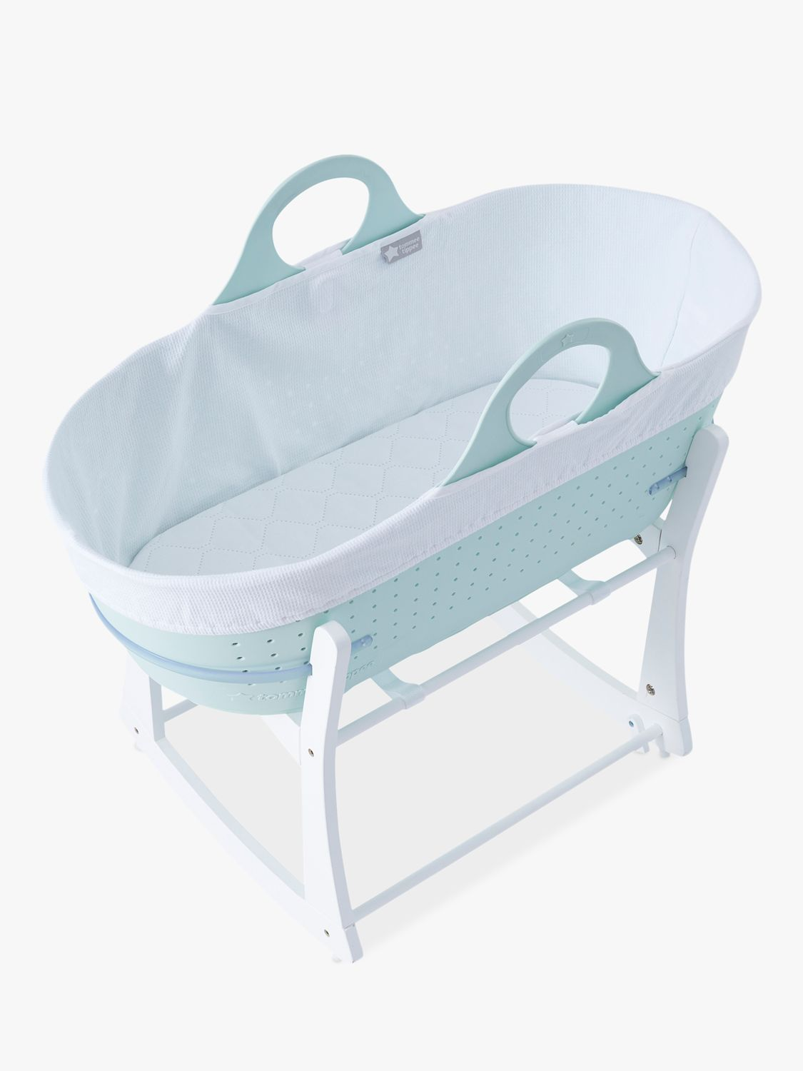 Tommee Tippee Tommee Tippee Sleepee Baby Moses Basket and Rocking Stand, Mint